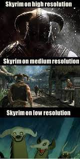 FunniestMemes.com - Funniest Memes - [Skyrim On High Resolution...] via Relatably.com