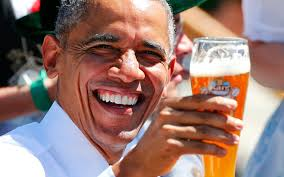 Image result for barack drinking beer