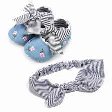 Fashion 2019 New <b>2pcs</b>/<b>set Flower Headband</b> + <b>Baby</b> Girl Shoes ...
