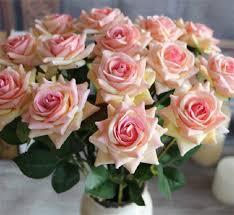 Velet Roses <b>50cm</b>/19.7 Length <b>Artificial</b> Single Rose <b>Red</b>/<b>Pink</b>/Wine ...