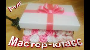 <b>Подарочная коробка</b> с <b>розами</b> и конфетами ℳAℛίℕℰ DIY ...