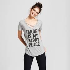 Women's Target Is <b>My Happy</b> Place Short Sleeve Cross Front ...