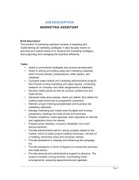 marketing assistant job description   template  amp  sample form    marketing assistant job description