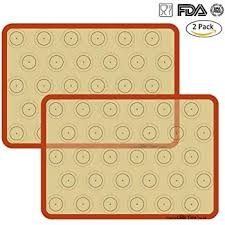 <b>2pcs Silicone</b> Baking Mat for Macarons, 15.3 x 11 Mat Liner with 35 ...