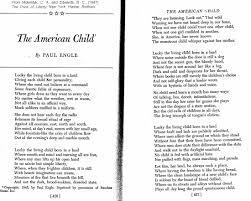 english irw fall 2016 calendar o w resource poem the american child by paul enge