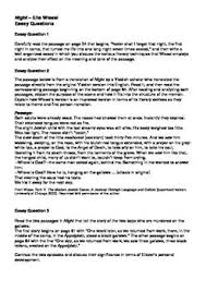 student essay questions and elie wiesel on pinterest