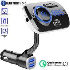 <b>QC 3.0</b> Fast <b>Car</b> Charger Bluetooth <b>5.0</b> FM Transmitter, Dual USB ...