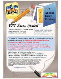 martin luther king jr prayer breakfast faithbridge the 2017 topic is honestly confronting racism the contest is open to all local students in grades 6 8 to enter email us your 300 350 word essay by