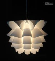 modern lotus lamp decoration plastic pendant light dining living room suspension hanging small corrider balcony cheap cheap modern pendant lighting