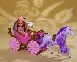 Кукла Еви в <b>карете с лошадью</b> (<b>свет</b>), 12 см
