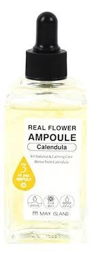 <b>Сыворотка для лица Real</b> Flower Ampoule Calendula 100мл May ...