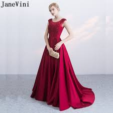 JaneVini <b>Wine Red Beaded Appliques</b> Mother Of The Bride Dress ...