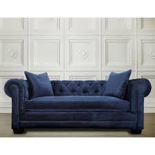 Navy Living Room Chair Modern Living Room Furniture Luxury Velvet Blue Sofa Removable