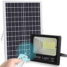 2019 <b>Upgraded</b> 200W <b>LED Solar</b> Flood <b>Light</b> 400LED Dusk to Dawn ...