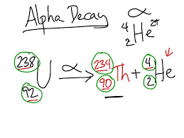 chemistry problem ph alpha decay problem