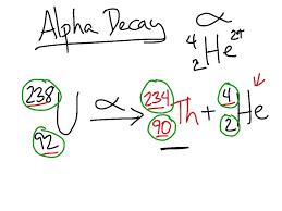 chemistry problem ph alpha decay problem