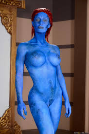 Cosplay Big Tits and Big Boobs at Boobie Blog Part 2 Nicole Aniston as Mystique.