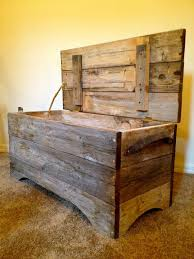 reclaimed barn wood storage bench i could probably make one just by looking at barn wood furniture diy