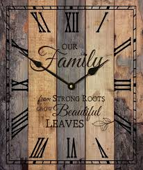 """Our Family… Rustic Wood Wall Sign Clock (17.5 x 21"""") (с ..."""