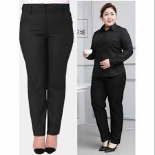 <b>Plus Size</b> Office <b>Slacks</b> 30-38 High Waist <b>Formal Pants</b> | Shopee ...