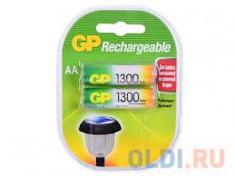 <b>Аккумуляторы GP</b> 2шт, AA, 1300mAh, NiMH (<b>130AAHC</b>-2DECRC2 ...