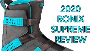 2020 Ronix <b>Supreme</b> Wakeboard <b>Bindings</b> Review - YouTube