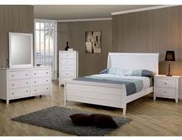 sandy beach youth 4 piece sleigh bedroom furniture set in white finish by coaster 400231 beach bedroom furniture