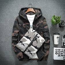 <b>Zozowang</b> New <b>Spring Autumn</b> Mens Casual Camouflage Hoodie ...