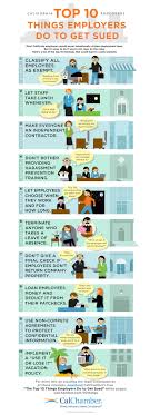 top things employers do to get sued inforgraphic hrcalifornia