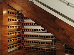 under the stairs awesome wine cellar