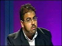 """Dr Imran Waheed of Hizb Ut Tahrir. Dr Waheed goal is the liberation of Muslim lands from """"colonialism"""" - _39507618_hizb203"""