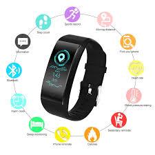 QW18 Smart Bracelet <b>Bluetooth</b> Heart Rate Monitor IP68 Waterproof ...
