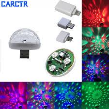 <b>CARCTR</b> New LED <b>USB Car Atmosphere</b> Light DJ RGB Mini ...
