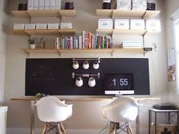 in lieu of mounting a marker board why not just paint a chalk square right onto your office wall use painters tape to section off an area of chalkboard paint office