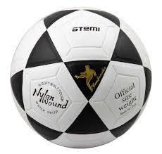 """<b>Мяч</b> футбольный <b>Atemi</b> """"<b>GOAL</b>"""", <b>PVC</b>, белый/чёрный ..."""