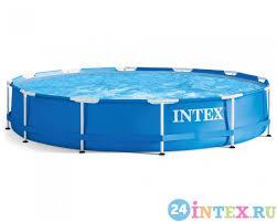 Каркасный бассейн <b>Intex Metal Frame 366х76</b> см (28210)   24intex.ru