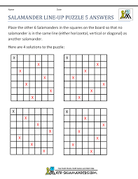 Printable Math Puzzles 5th GradeSalamander Line Up Puzzle 5 ...