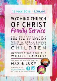 family service at wyoming church of christ wyoming church of christ a5 family service flyer
