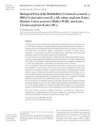 (PDF) Biological Flora of the British Isles: Cirsium dissectum (L.) Hill ...