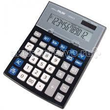 <b>Milan Калькулятор</b> настольный 12 разрядов двойное питание ...