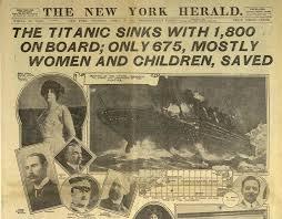 「1912, titanic sunk」の画像検索結果