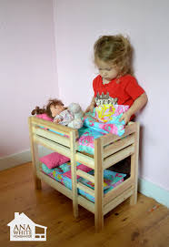 doll bunk beds for american girl doll and 18 doll building doll furniture
