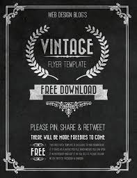75 flyer templates photoshop psd psdtemplatesblog vintage flyer template psd