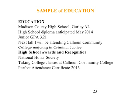cover letter and resume writing for high school students sample of education education madison county high school