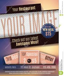 restaurant flyer advertisement template stock vector image  restaurant flyer advertisement template
