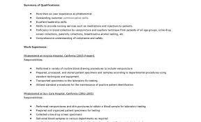 phlebotomy resume objective resume cover letter samples for x 425 phlebotomist cover letter