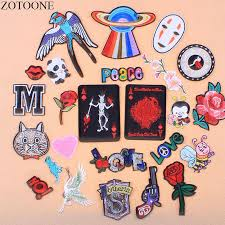 <b>ZOTOONE</b> Rhinestone Cat <b>Patch Iron</b> On UFO Bird Letter <b>Patches</b> ...