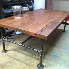 barn wood coffee table pipe awesome custom reclaimed wood office desk