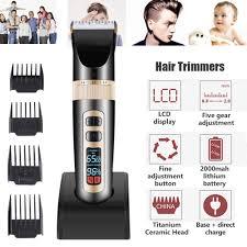Men's <b>LCD</b> Electric Cord/Cordless Rechargeble Hair Clipper ...