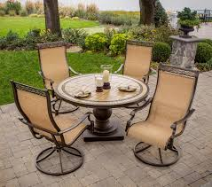 patio dining: hanover monaco  piece patio dining set